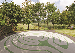 Labyrinth at Hospice In The Weald Addaset Lucerne Silver & Addacolor Green